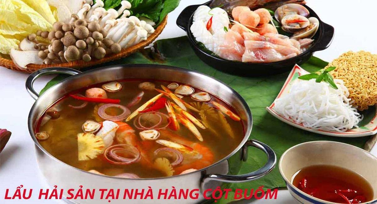 lẫu hải sản nhà hàng ở đảo Phú Qúy